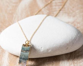 Amethyst Slice Necklace/Amethyst Necklace/Amethyst stone necklace/Amethyst Slice Pendant/February birthstone/Rough Amethyst Necklace