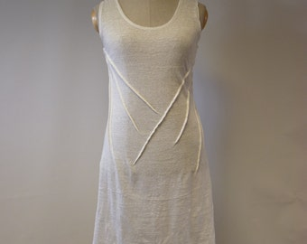 Delicate transparent off-white tunic, L size. Perfect for Summer, very feminine look.
