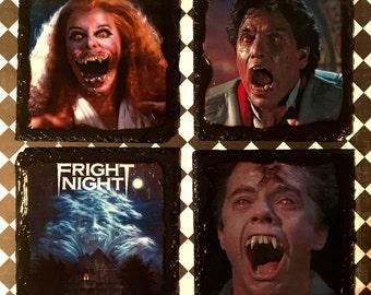 Fright night slate coasters