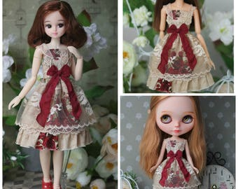 Dress for Blythe / Obitsu 24 / Azone pure neemo L /Momoko doll  1/6 size