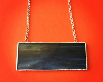 Sky Stained Glass Necklace
