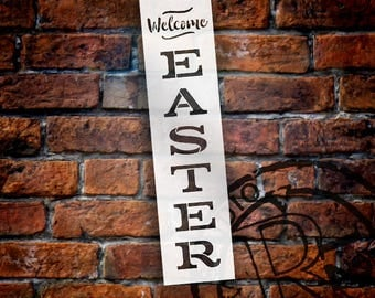 Welcome Easter - Vertical - Word Stencil - Select Size - STCL1877 - by StudioR12