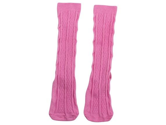 Bubblegum Pink Knee High Socks Hand Dyed Pink Toddler Knee High Socks Baby Children's Girl's Socks Uniform Style Socks Dyed Pink Spring Sock