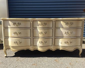 Vintage French 9 Drawer Dresser
