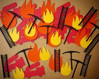 Fireman Confetti, Fire Truck Confetti, Firefighter Party, Firefighter Confetti, Fire Confetti, Fireman Birthday, Firefighter Birthday, Fire