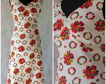 Vintage 1960s Floral Shift Dress Mod Party Mini Dress Festival Summer Boho 16