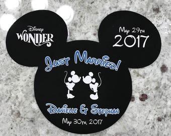 Disney Cruise Line - Honeymoon / Just Married Mickey Magnet