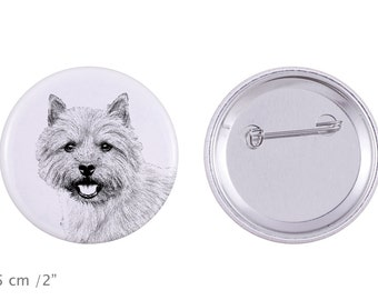 Buttons with a dog - Norwich Terrier
