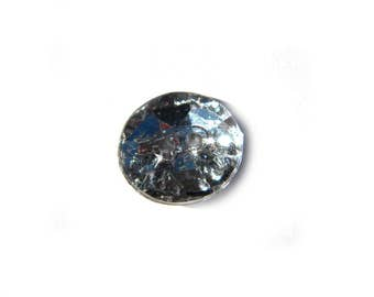 10 Crystal Clear Buttons - 15mm