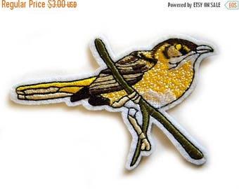 HALF PRICE Bird Embroidered Patch Appliqué