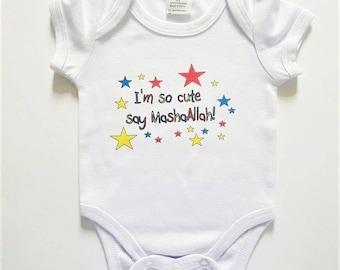 MashaAllah Islamic Babygrow, Baby Onesie Eid Gift