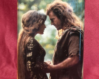 Mel Gibson and Catherine McCormack in Braveheart - 8 oz stainless steel flask