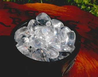 Water Clear Tumbled Quartz for programmability, spirituality and light-work