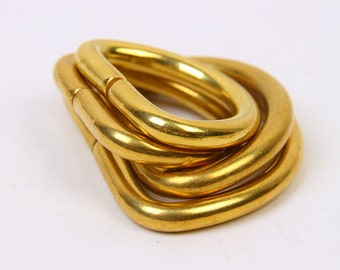 10 pcs Brass D Rings Assorted Size