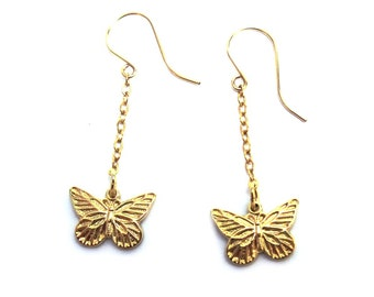 Goldfilled Butterfly Dangle Earrings