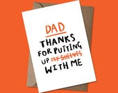 Dad, thanks for putting up my shelves/with me - Father's Day Card