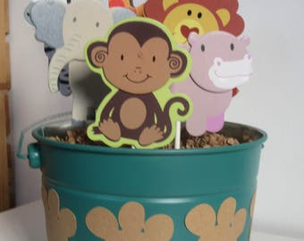 Items Similar To Jungle Safari Baby Shower Centerpiece