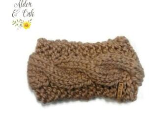 Cable Knit Ear Warmer (Knit headwrap) (Ear warmer) (Knit winter fashion) (Cable earwarmer)