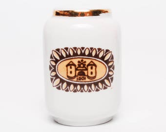Vintage Porcelain Salt, Paper Shakers Riga, Latvia (Art.PR073)