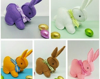 Easter Bunny, felt bunnies, Easter bunny decoration, Easter gift, coloured bunny, felt rabbits, easter decorations