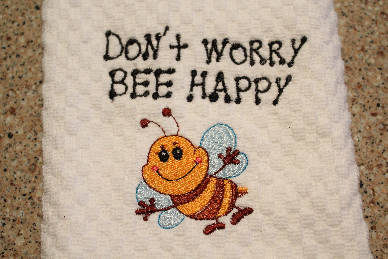 tea towel kitchen towels tea towels dish towels bee print bee