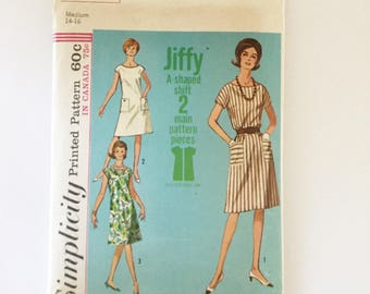 Vintage Simplicity Pattern 5960, Woman's A-Line Shift Dress  - Used