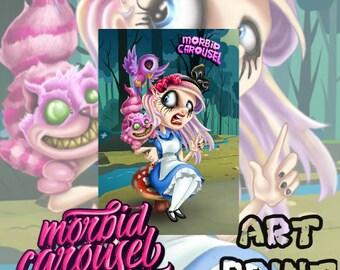 Alice in Zombieland A3 Art Print