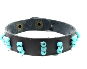 Boho Bracelets,Gypsy Bracelets,Leather Bracelets,Beaded,Gifts for her,Gifts for him,Gifts for Teens,Holiday Gifts,Bohemian jewelry,Turquoise