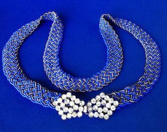 1920s Bead Belt with Diamante Clasp