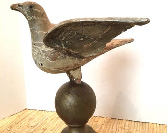 RARE Early 19th cen Hand Carved Dove