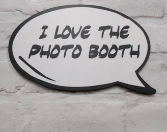 I Love the Photo Booth Speech Bubble Prop 013-813 Party Prop, Comic Speech Bubble