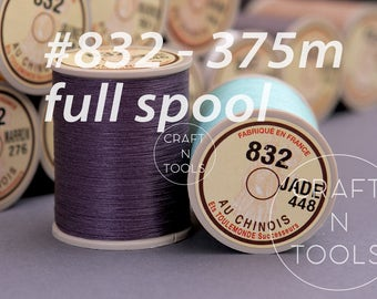 """Sajou Fil au Chinois """"Lin Cable"""" Waxed Linen Thread Full Spool #832 (0.43mm)/Corded Thread/Linen Cable/Thread for Leather/Cable Thread"""