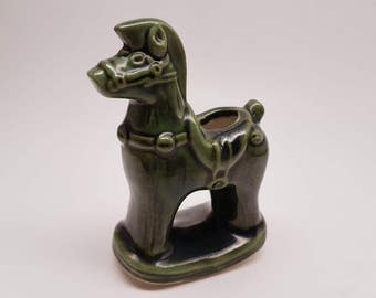 Vintage Miniature Ceramic Rocking Horse Pen Holder