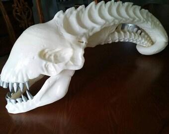 3D printed Xenomorph Alien drone skull - UNASSEMBLED