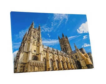 Castles and Cathedrals Ken England Canterbury Cathedral Gallery Wrapped Canvas Print