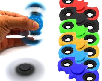 Fidget Finger Spinner Hand Toy Focus EDC Long Spin Stress Relief Pocket Desk Gift A.D.H.D (BATMAN STYLE)