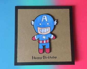 Captian America birthday card