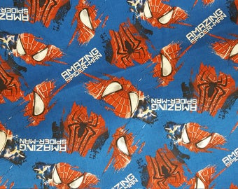 Spiderman Cotton Fabric Grunge 100% Cotton Character Fabric