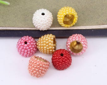 30pcs Pearl Beads End Caps,Metal Caps,Bead Caps for making Bracelet / Necklace Jewelry Findings