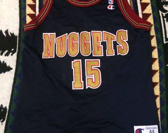 Vintage 90s Danny Fortson Champion Jersey size 44