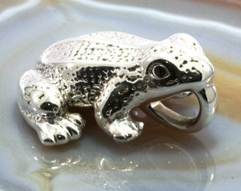 Frog, pendant, 925 sterling silver, electroforming - 3036