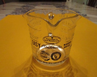 Vintage Federal Glass Combomatic Washer Dryer Measuring Cup, Rare, 1950's