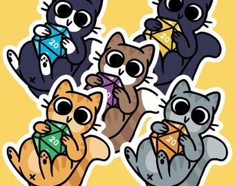 D20 Cats Sticker Pack