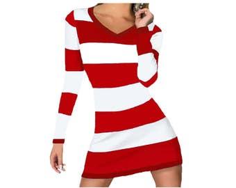 Red + White Stripe Spirit Dress