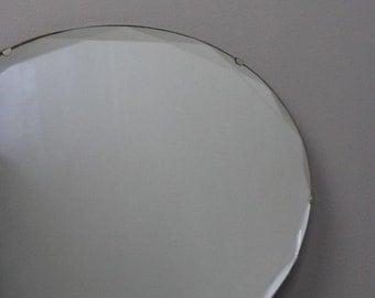 Oval Frameless Mirror