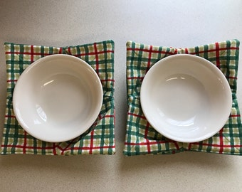 Microwave Bowl Holder Pair