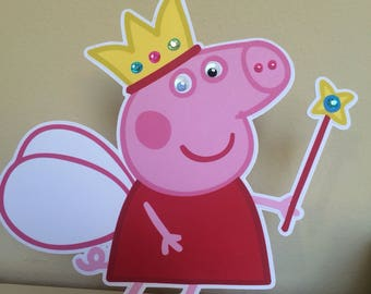 Fairy Peppa the Pig Centerpieces, Peppa Pig Centerpieces, Peppa Pig Birthday Party