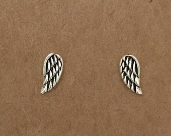 Sterling Silver Wing Stud Earrings | Angel Wing Studs | Sterling Silver | Wing Earrings | Stud Earrings  | Angel jewelry | boho