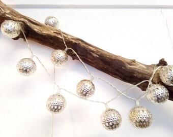 Morroccan Style Metal Ball Decorative Lights, Fairy Lights, Christmas Lights, Tree Lights, Sring Lights, Chain Lights, Wedding Table Lights