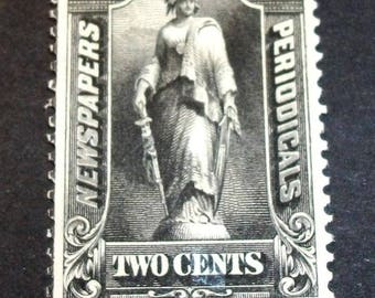 1985  US Stamp Scott# PR103 Statue of Freedom 2 Cents (Black)